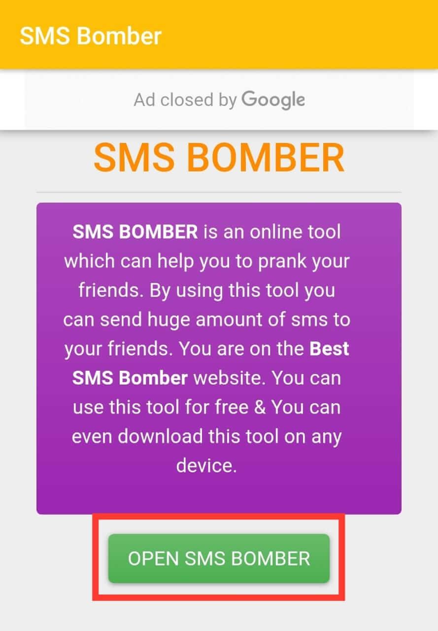Open SMS Bomber